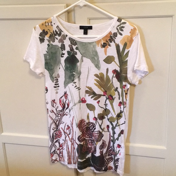 5188cefb5a7 J. Crew Tops - J.Crew Cap Sleeve Floral Design Shirt In Size Med